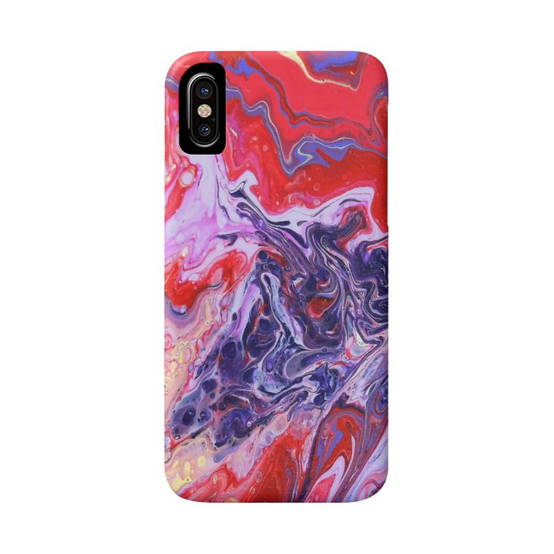 Red and Purple Acrylic Flow Accessories Phone Case by Creations of Joy's Artist Shop