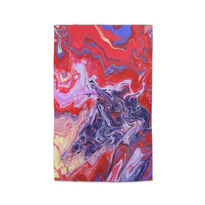 Red and Purple Acrylic Flow Home Rug by Creations of Joy's Artist Shop