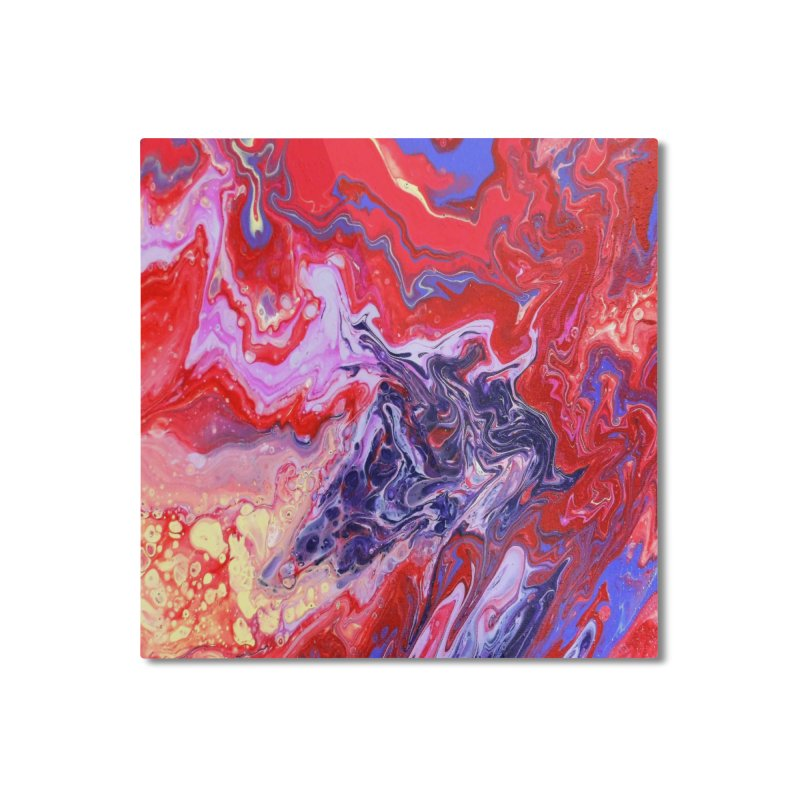 Red and Purple Acrylic Flow Home Mounted Aluminum Print by Creations of Joy's Artist Shop