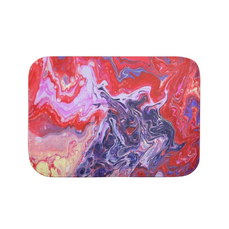 Red and Purple Acrylic Flow Home Bath Mat by Creations of Joy's Artist Shop