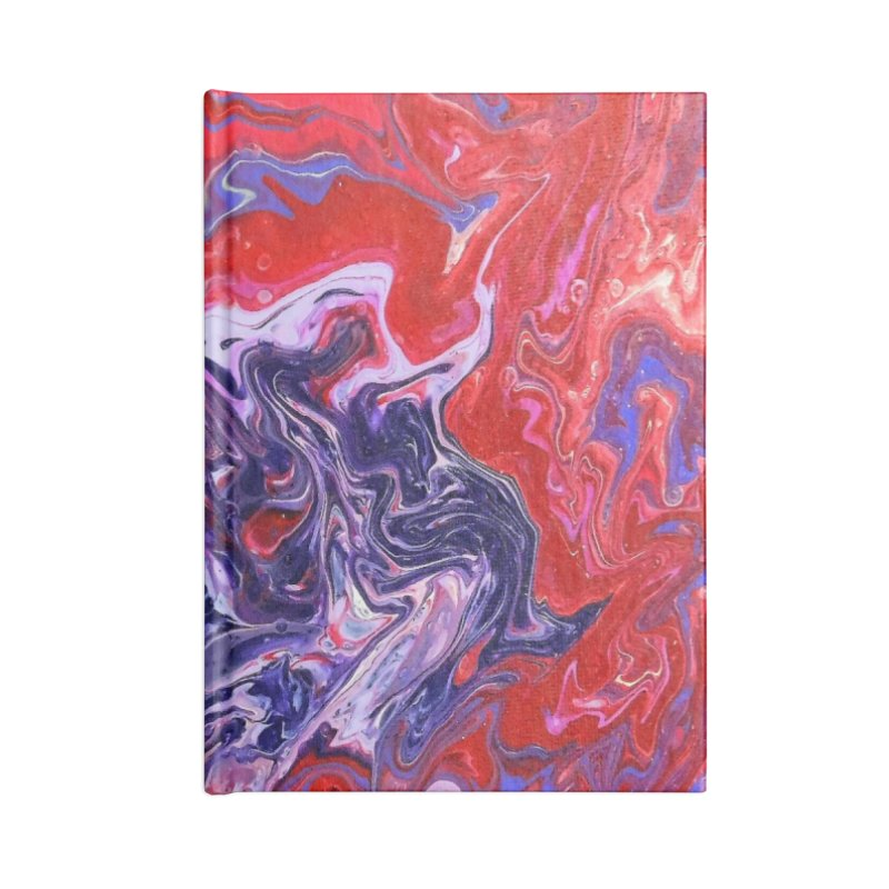 Red and Purple Acrylic Flow Accessories Blank Journal Notebook by Creations of Joy's Artist Shop