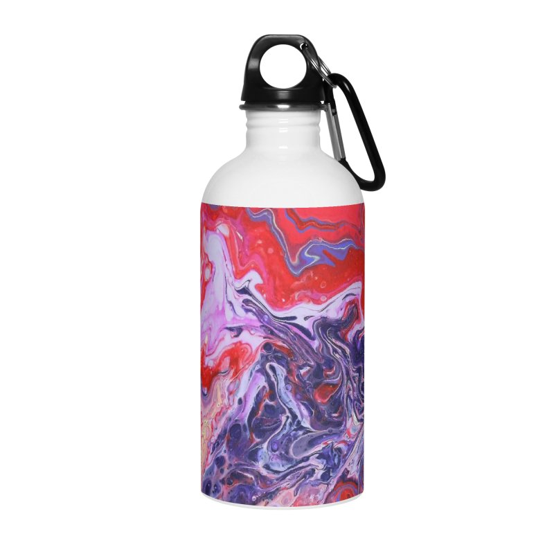 Red and Purple Acrylic Flow Accessories Water Bottle by Creations of Joy's Artist Shop