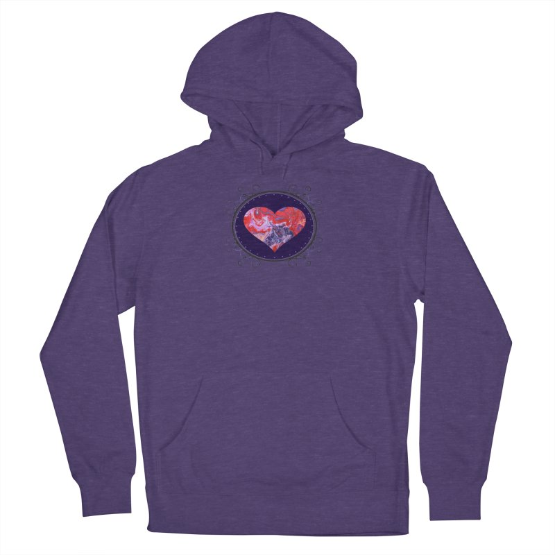 Red and Purple Acrylic Flow Men's French Terry Pullover Hoody by Creations of Joy's Artist Shop