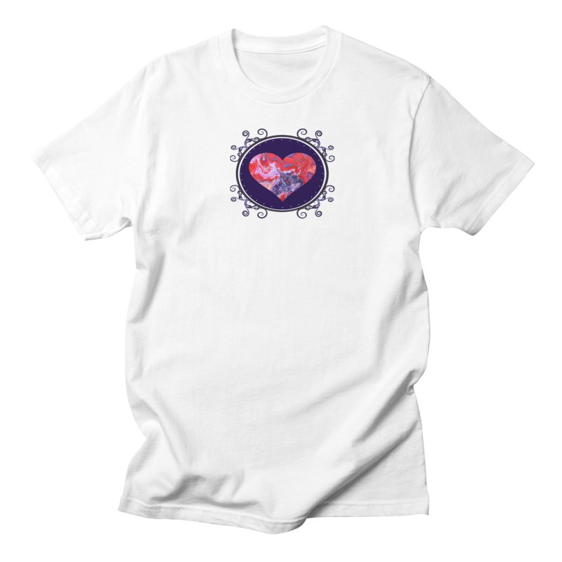 Red and Purple Acrylic Flow Men's Regular T-Shirt by Creations of Joy's Artist Shop