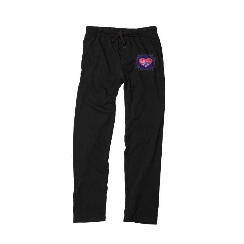 Red and Purple Acrylic Flow Men's Lounge Pants by Creations of Joy's Artist Shop