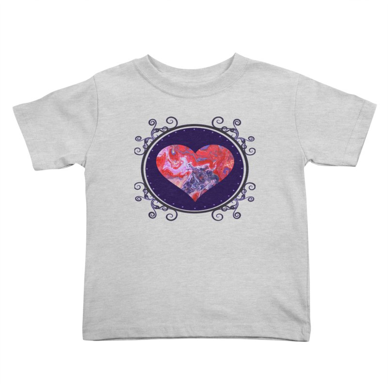 Red and Purple Acrylic Flow Kids Toddler T-Shirt by Creations of Joy's Artist Shop