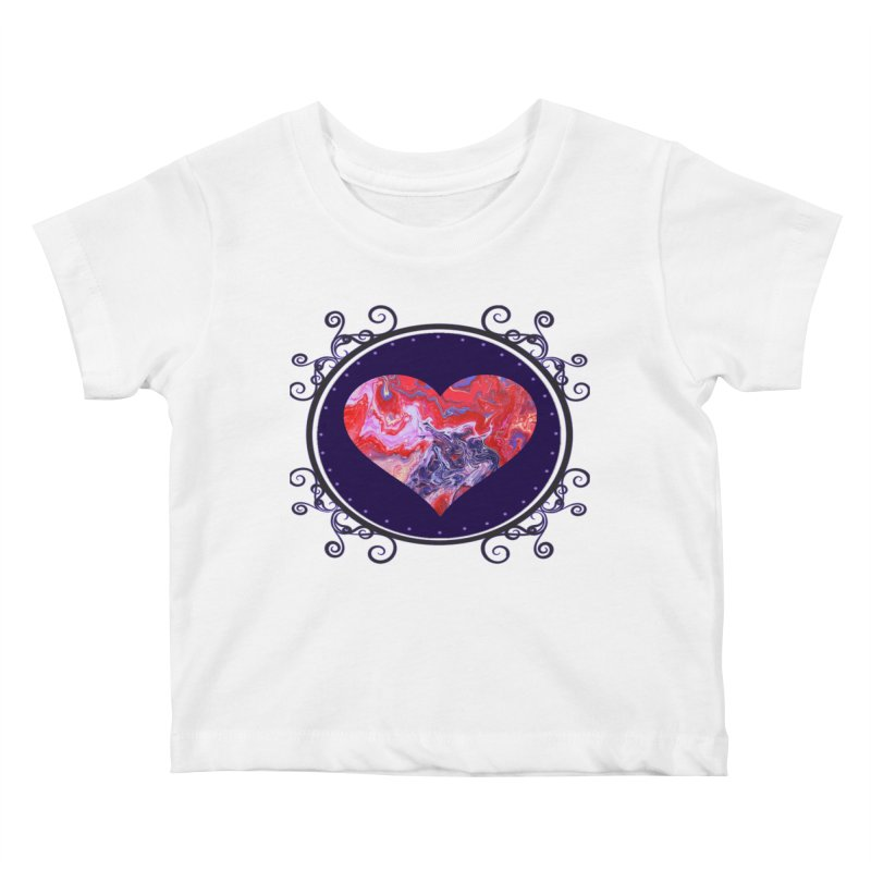 Red and Purple Acrylic Flow Kids Baby T-Shirt by Creations of Joy's Artist Shop