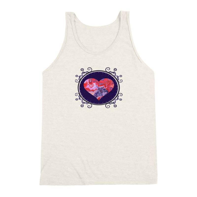 Red and Purple Acrylic Flow Men's Triblend Tank by Creations of Joy's Artist Shop
