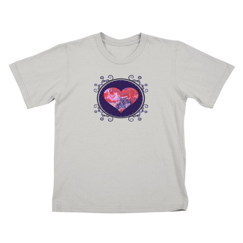 Red and Purple Acrylic Flow Kids T-Shirt by Creations of Joy's Artist Shop