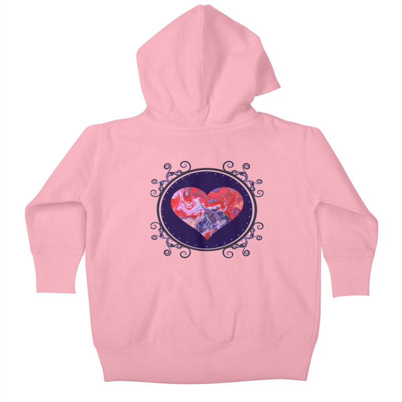 Red and Purple Acrylic Flow Kids Baby Zip-Up Hoody by Creations of Joy's Artist Shop