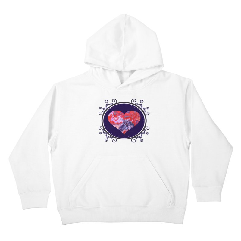 Red and Purple Acrylic Flow Kids Pullover Hoody by Creations of Joy's Artist Shop