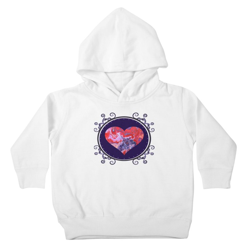 Red and Purple Acrylic Flow Kids Toddler Pullover Hoody by Creations of Joy's Artist Shop