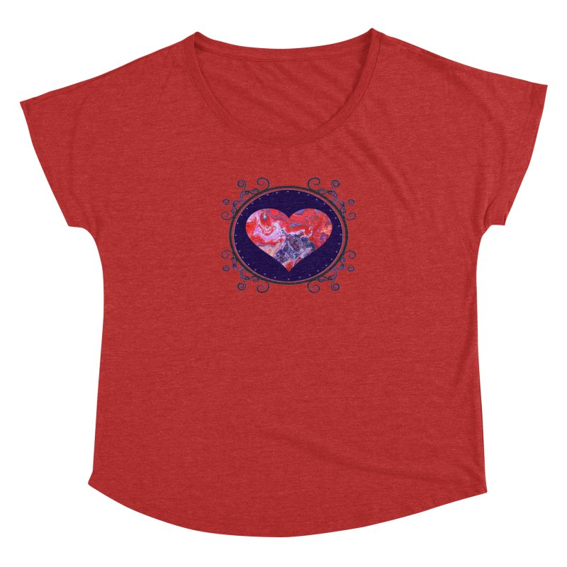 Red and Purple Acrylic Flow Women's Scoop Neck by Creations of Joy's Artist Shop