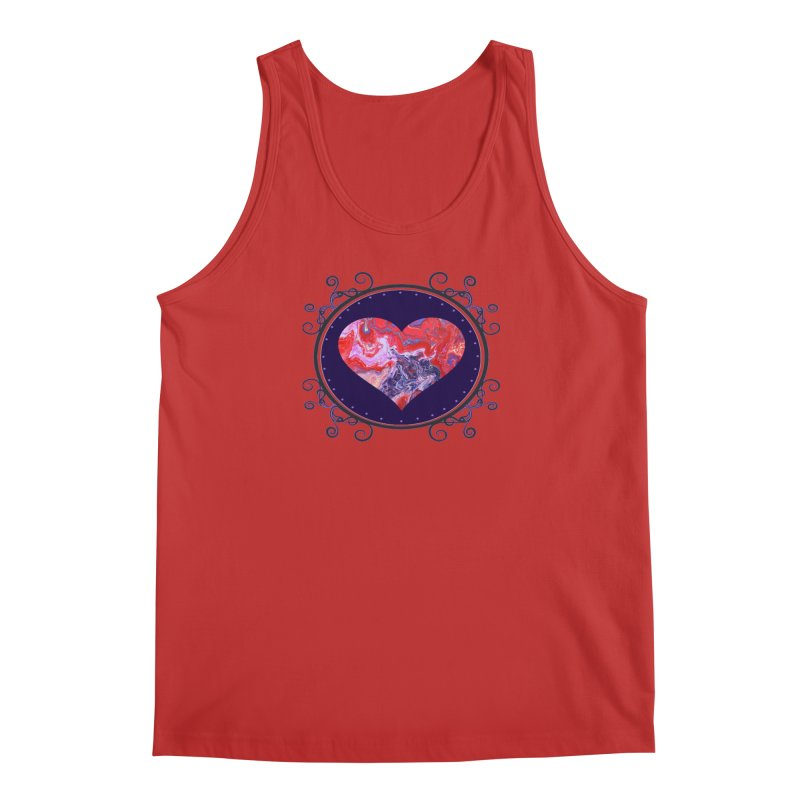 Red and Purple Acrylic Flow Men's Regular Tank by Creations of Joy's Artist Shop