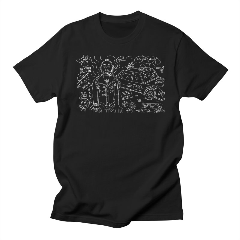 Taxi Driver NYC in Men's T-shirt Black by creativebloch.com