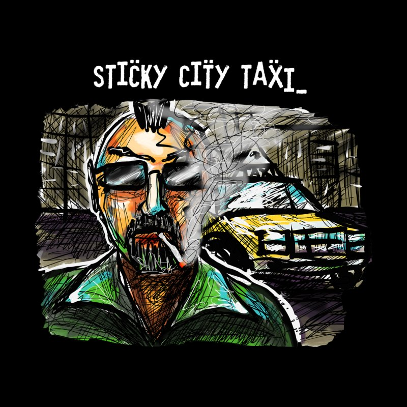 TAXI DRIVER Men's T-Shirt by creativebloch.com