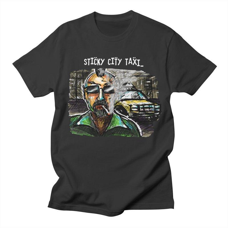 TAXI DRIVER Men's Regular T-Shirt by creativebloch.com