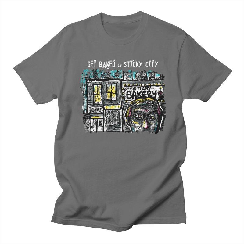 GET BAKED! in Men's T-shirt Asphalt by creativebloch.com