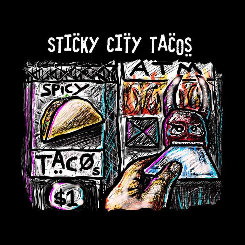 SPICY TACOS Men's T-Shirt by creativebloch.com