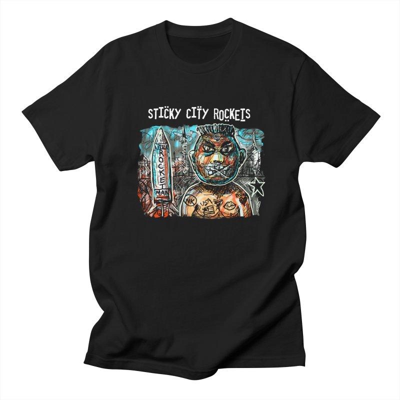 LITTLE ROCKETMAN Men's T-shirt by creativebloch.com