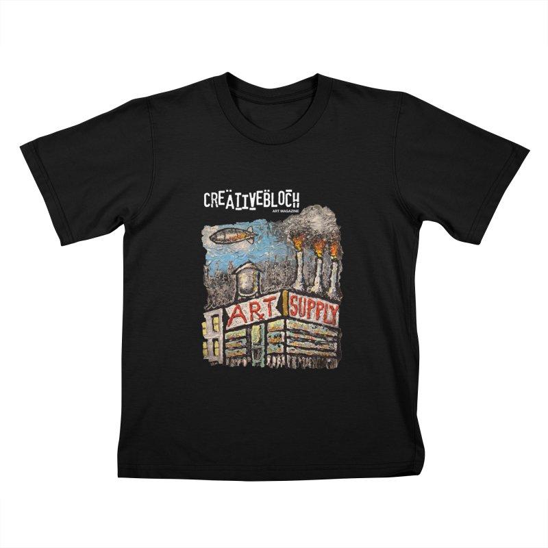 ART SUPPLY Kids T-Shirt by creativebloch.com