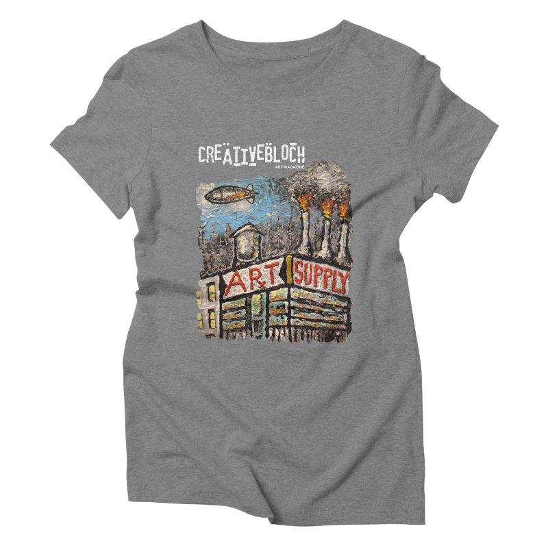 ART SUPPLY Women's Triblend T-shirt by creativebloch.com