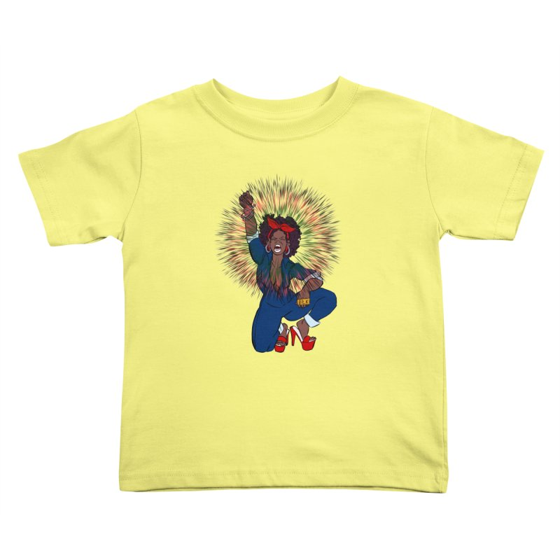 Black Woman's Roar Kids Toddler T-Shirt by The Shop of Creative Ether