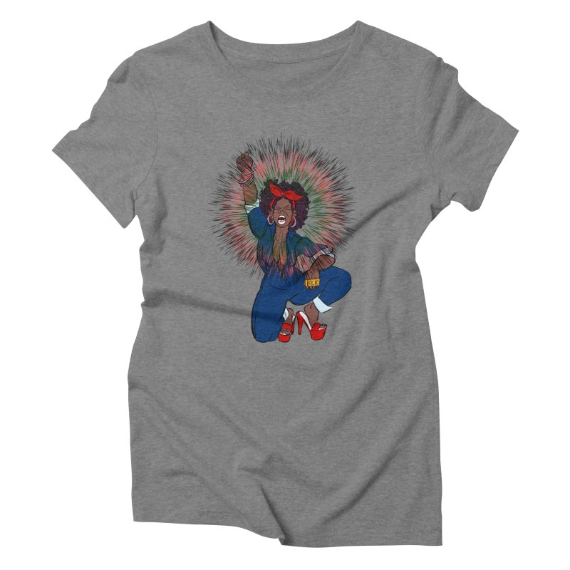 Black Woman's Roar Women's Triblend T-shirt by The Shop of Creative Ether