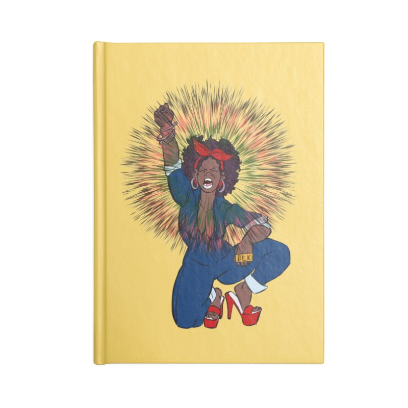 Black Woman's Roar Accessories Notebook by The Shop of Creative Ether