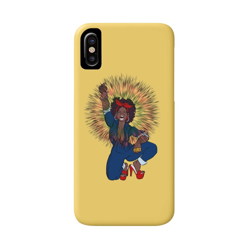Black Woman's Roar Accessories Phone Case by The Shop of Creative Ether