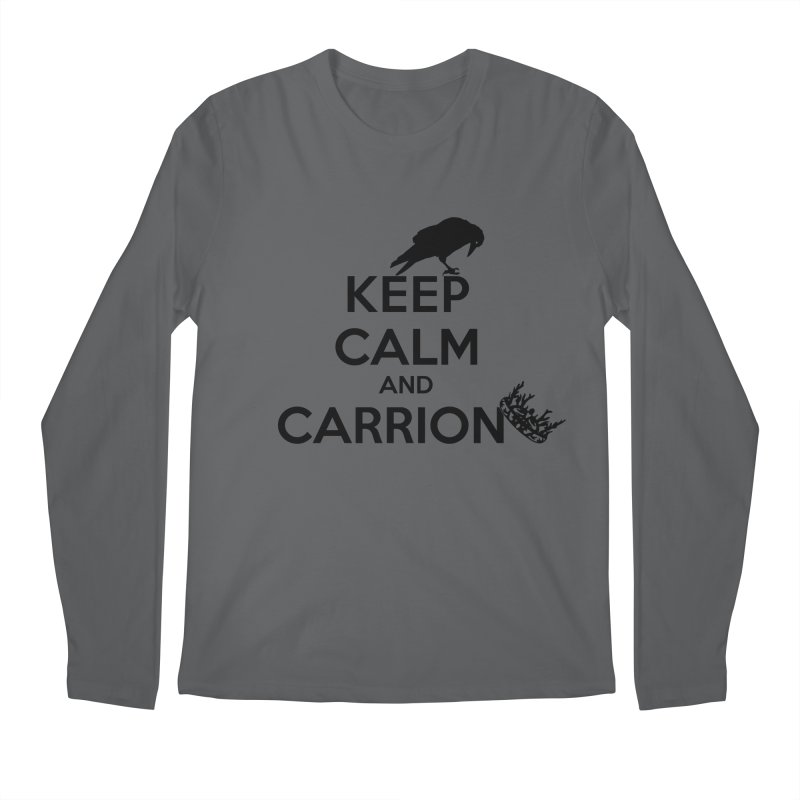 Keep calm and carrion Men's Longsleeve T-Shirt by creativehack's Artist Shop
