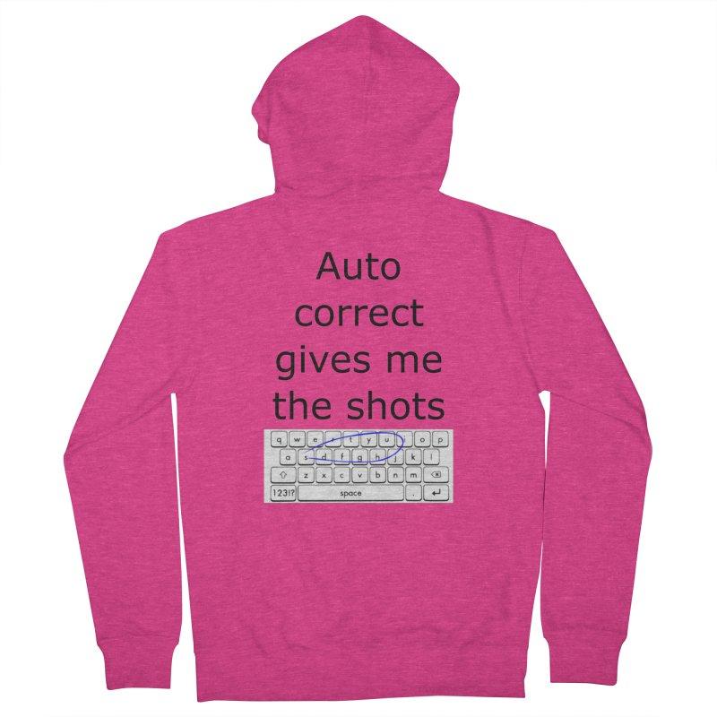 Auto correct Women's Zip-Up Hoody by creativehack's Artist Shop