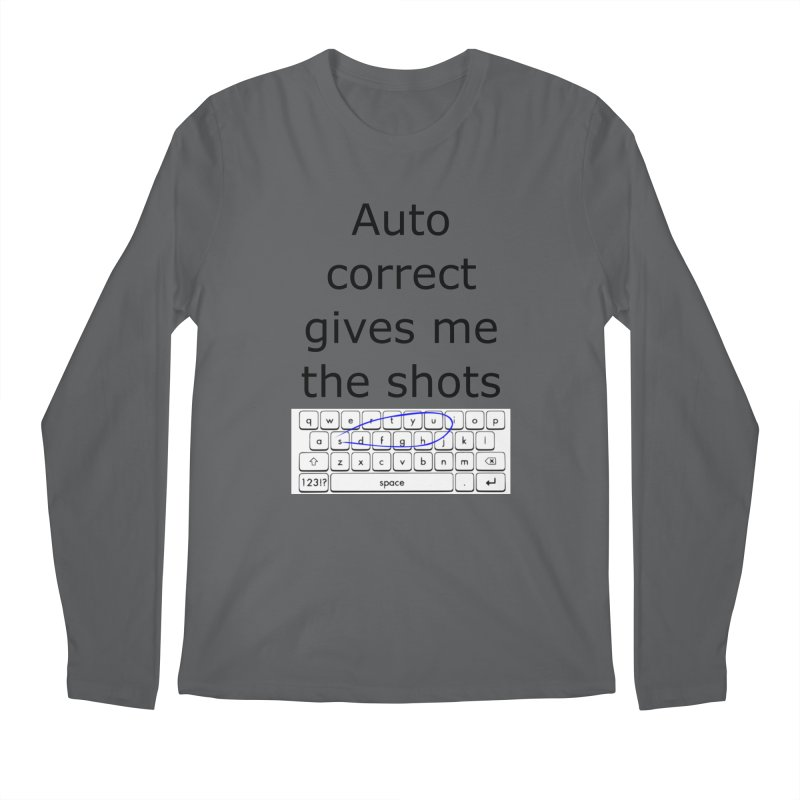 Auto correct Men's Longsleeve T-Shirt by creativehack's Artist Shop