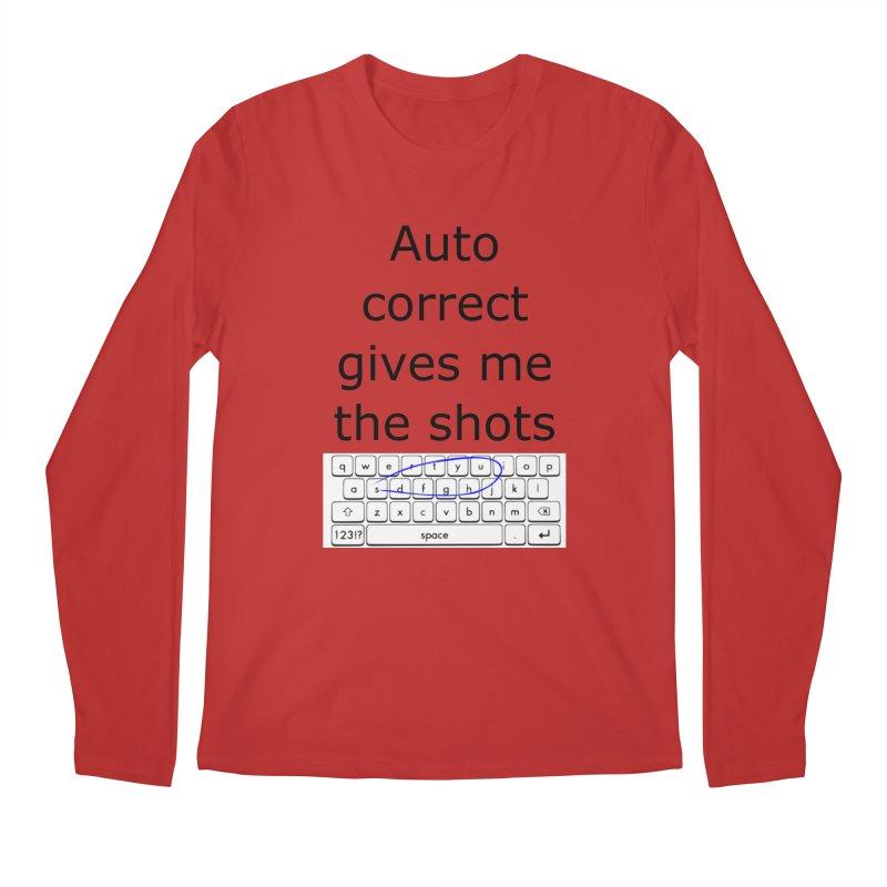 Auto correct Men's Longsleeve T-Shirt by creativehack's Artist Shop
