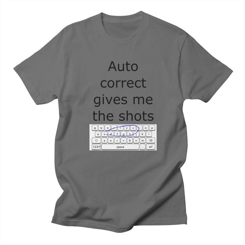 Auto correct in Men's T-Shirt Asphalt by creativehack's Artist Shop