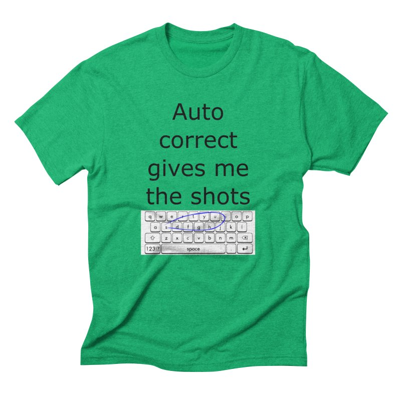Auto correct Men's Triblend T-shirt by creativehack's Artist Shop