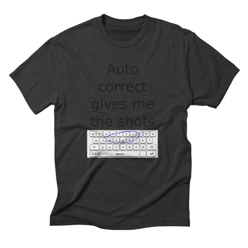 Auto correct Men's Triblend T-Shirt by creativehack's Artist Shop