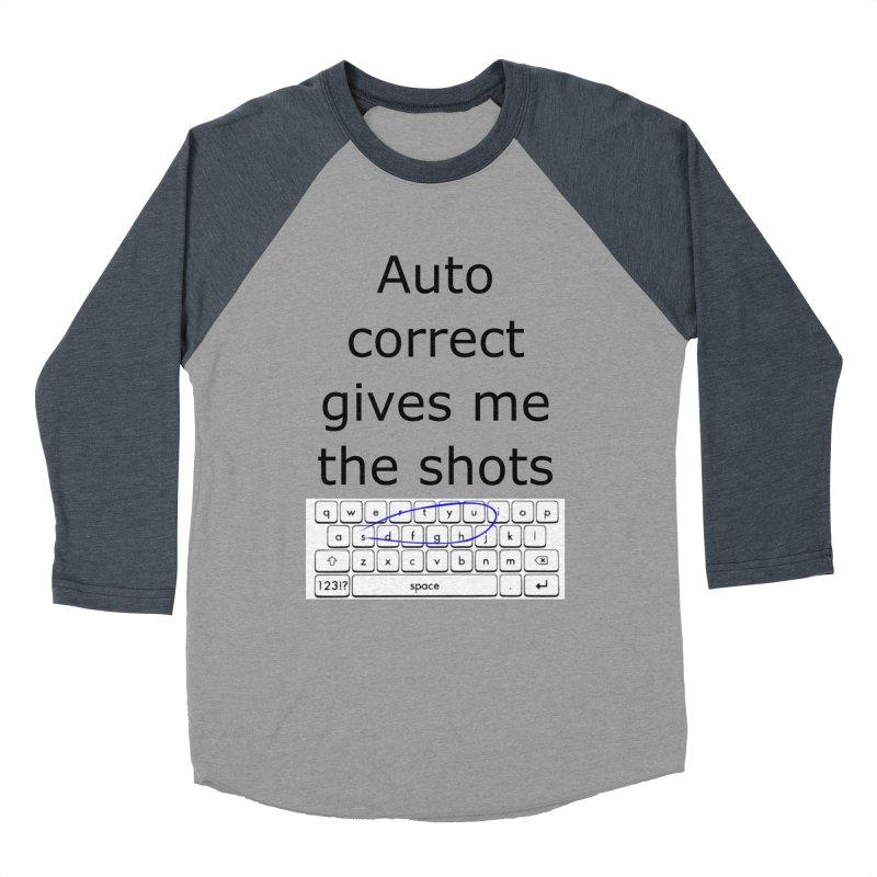 Auto correct Women's Baseball Triblend T-Shirt by creativehack's Artist Shop