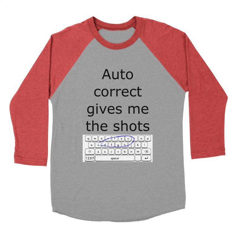Auto correct Men's Baseball Triblend T-Shirt by creativehack's Artist Shop