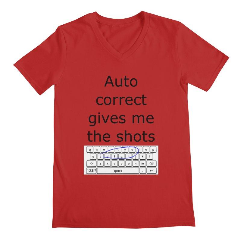 Auto correct Men's V-Neck by creativehack's Artist Shop