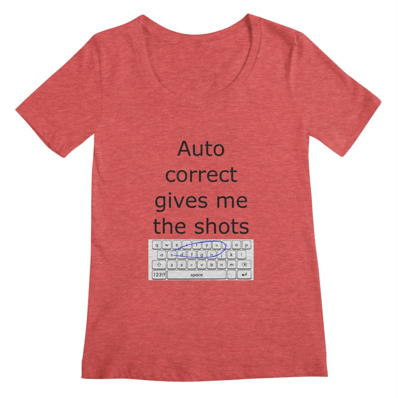 Auto correct Women's Scoopneck by creativehack's Artist Shop