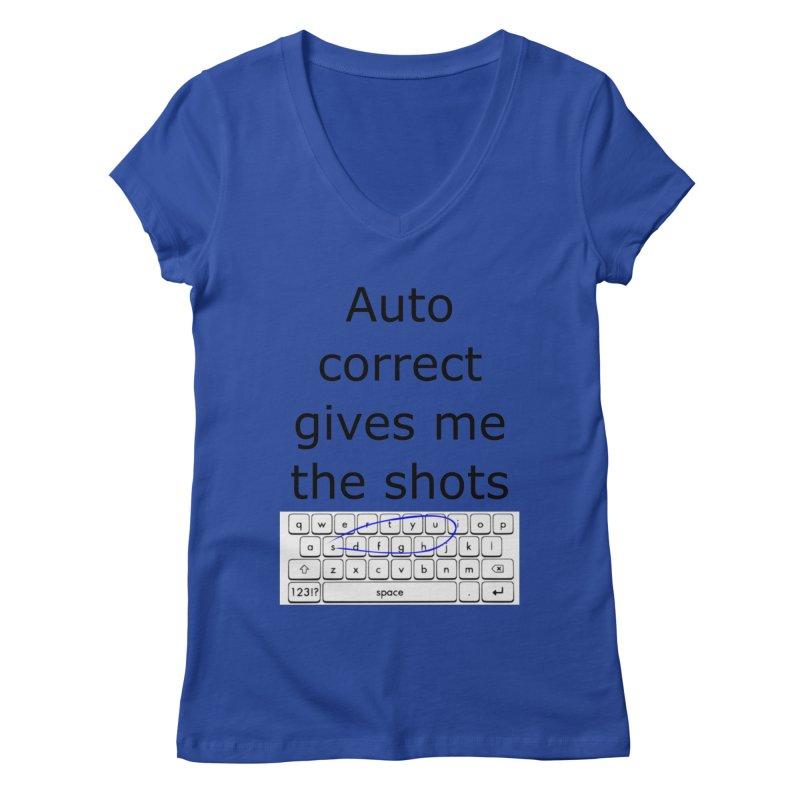 Auto correct Women's V-Neck by creativehack's Artist Shop