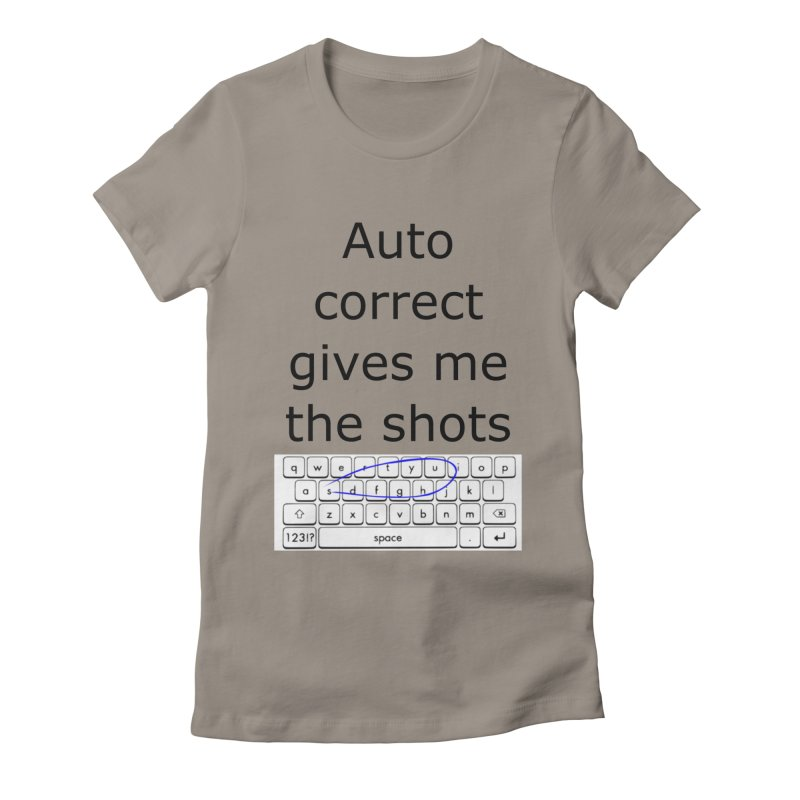 Auto correct Women's Fitted T-Shirt by creativehack's Artist Shop