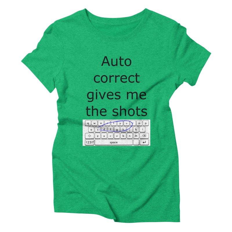 Auto correct Women's Triblend T-Shirt by creativehack's Artist Shop