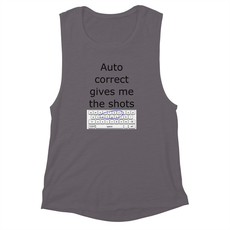 Auto correct Women's Muscle Tank by creativehack's Artist Shop