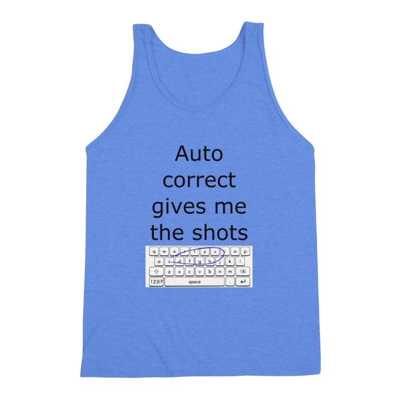 Auto correct Men's Triblend Tank by creativehack's Artist Shop