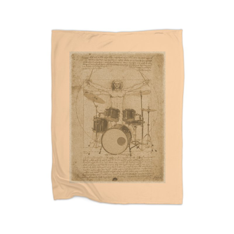 Vitruvius Percussionus Home Blanket by creativehack's Artist Shop