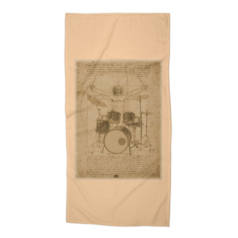 Vitruvius Percussionus Accessories Beach Towel by creativehack's Artist Shop