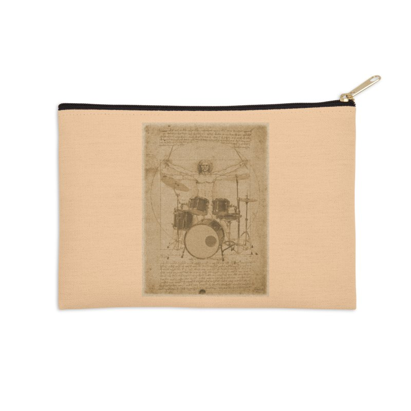 Vitruvius Percussionus Accessories Zip Pouch by creativehack's Artist Shop