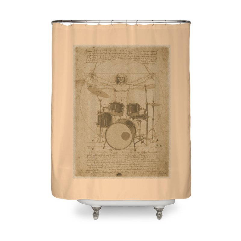 Vitruvius Percussionus Home Shower Curtain by creativehack's Artist Shop